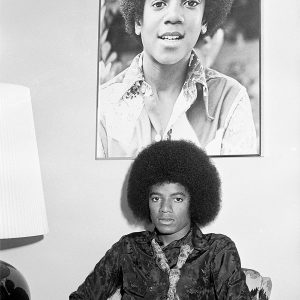 Michael Jackson poses in Los Angeles, California, on July 7, 1978 during photoshoot for Right On! magazine