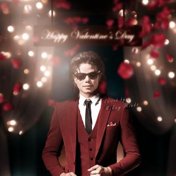 Michael Jackson Valentine's day Photoshop
