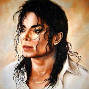 Michael Jackson oil on canvas painting by fan Nadia Z Ali