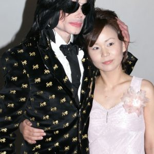 Michael Jackson and a fan at Premium V.I.P. Party at Studio Coast in Tokyo, Japan March 8, 2007