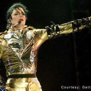 Michael Jackson performs at Ericsson Stadium in Auckland, New Zealand, during HIStory World Tour November 10, 1996