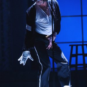 Michael Jackson performs on stage