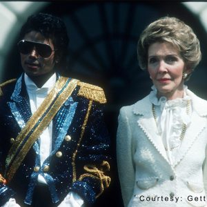 Michael Jackson and Nancy Reagan at White House May 4, 1984
