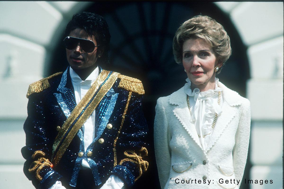 Michael Jackson and Nancy Reagan