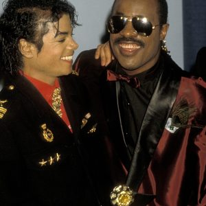 Michael Jackson and Stevie Wonder at GRAMMY Awards February 25, 1986