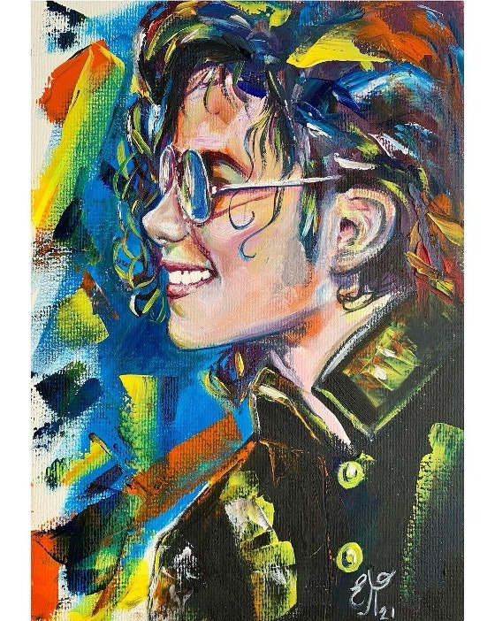 Fan Creates Colorful MJ Artwork