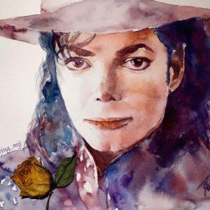 Fan Creates Lovely Michael Jackson Watercolor Painting