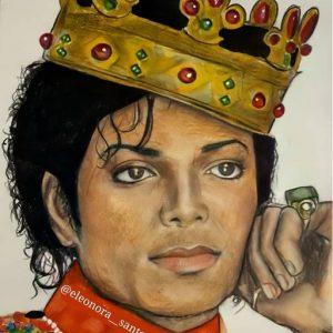 Michael Jackson drawing by Italian fan and artist Eleonora Santoro