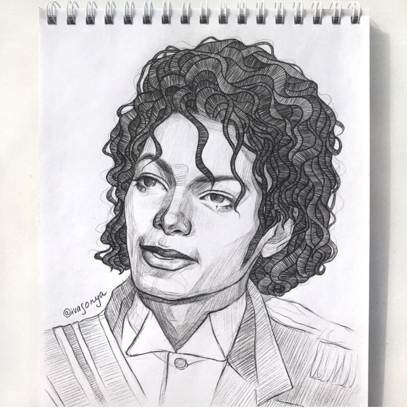 View The Details In This Sketch Of Michael Jackson