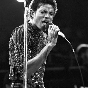 Michael Jackson performs in concert in 1981