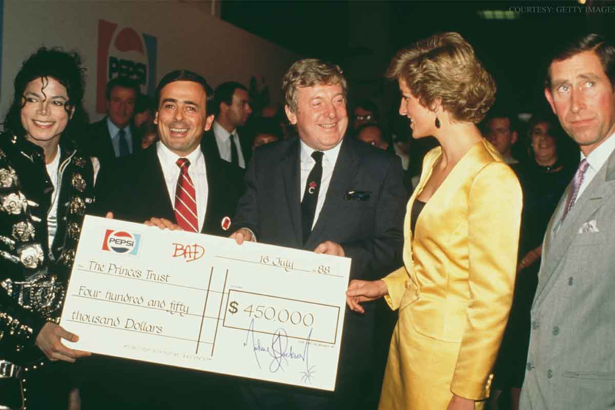 Michael Jackson Supported The Prince's Trust In July 1988 With Princess Diana & Prince Charles