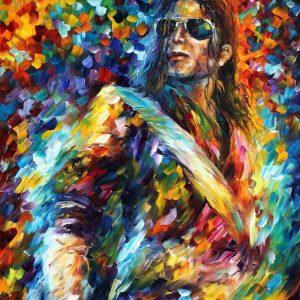 Fan Painting Of Michael Jackson On 'Dangerous' World Tour