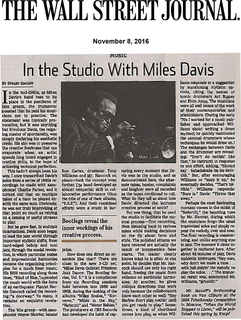 Miles Davis Quintet - Freedom Jazz Dance: The Bootleg Series Vol. 5 Wall Street Journal review