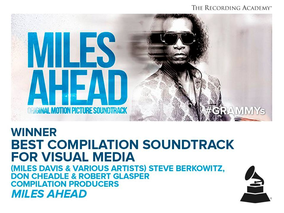 Miles Ahead wins GRAMMY for Best Compilation Soundtrack for Visual Media