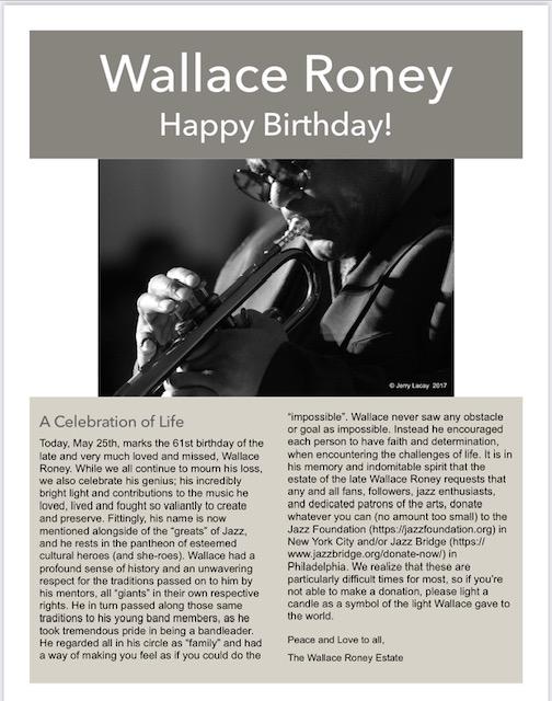 Happy Birthday Wallace Roney