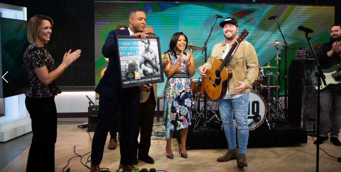 "Mitchell Tenpenny Performs No. 1 Hit ""Drunk Me"" On NBC's Today"