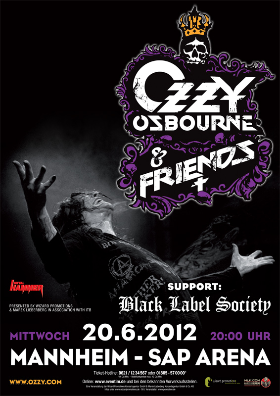Ozzy Osbourne & Friends in Mannheim, Germany poster