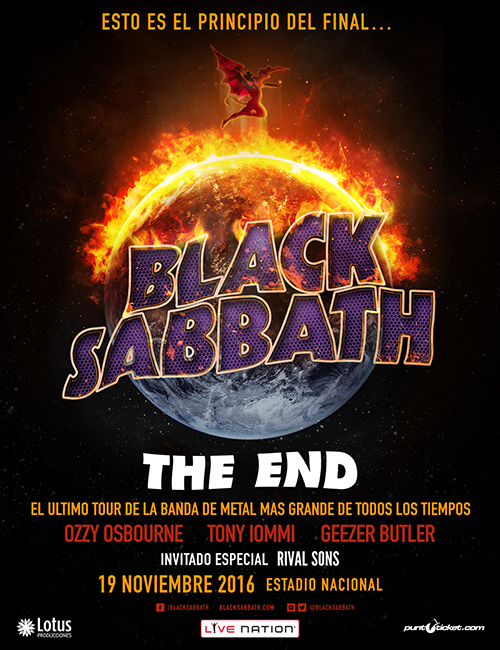 Black Sabbath Chile 2016