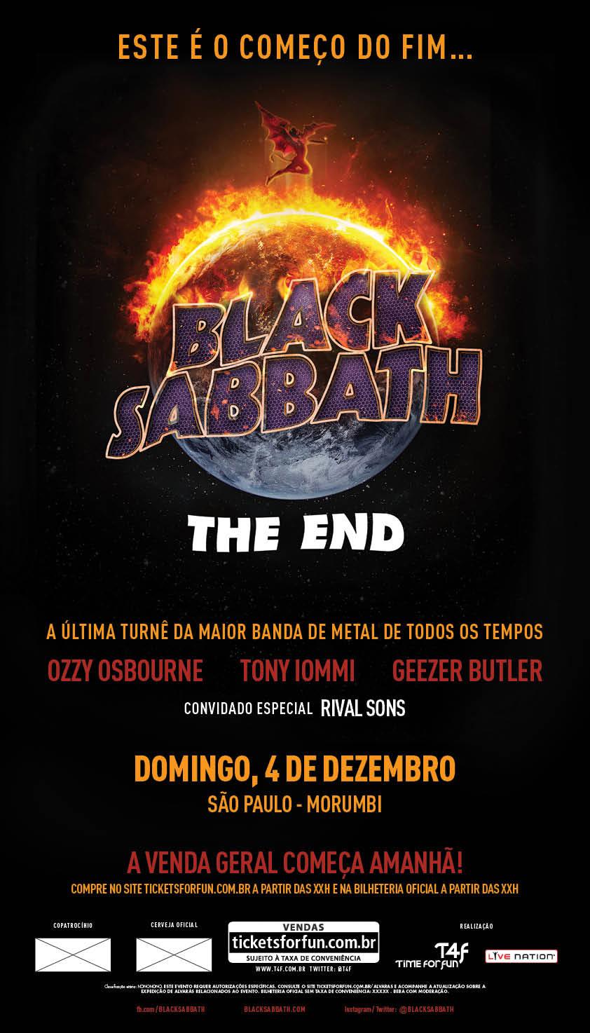 Black Sabbath Sao Paulo 2016