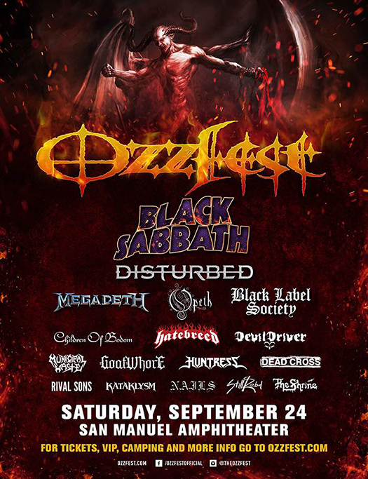 Black Sabbath at Ozzfest 2016