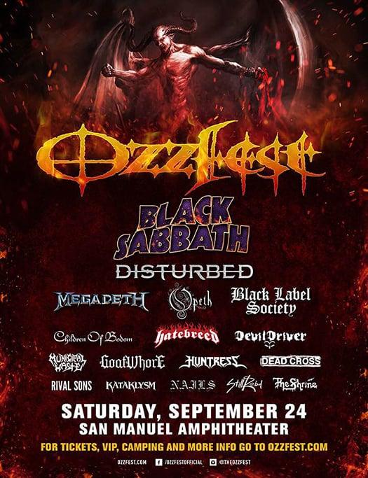 Black Sabbath at Ozzfest 2016