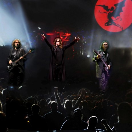 Black Sabbath on tour. Photo credit:  Mark Weiss