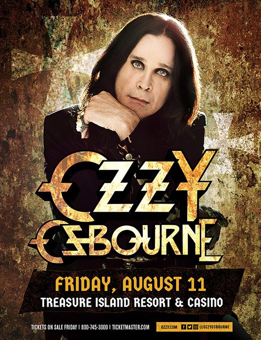 Ozzy Osbourne at Treasure Island Resort & Casino Welch, MN August 11, 2017