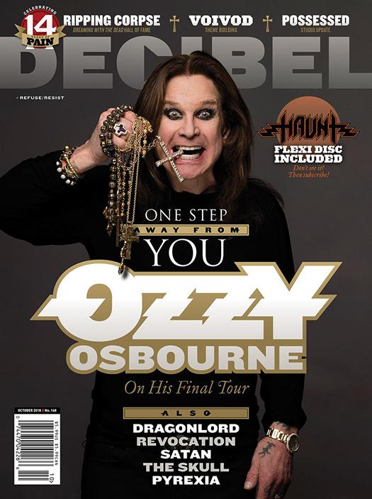 Ozzy Osbourne Decibel Magazine October 2018 cover story
