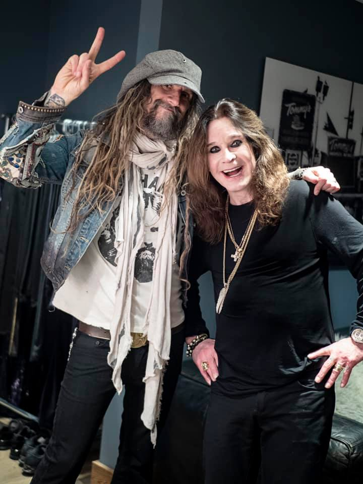 Ozzy Osbourne and Rob Zombie at Ozzfest December 31, 2018