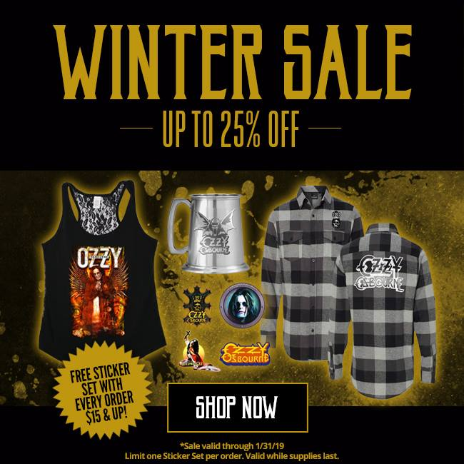 Ozzy Store Winter sale up to 25% off