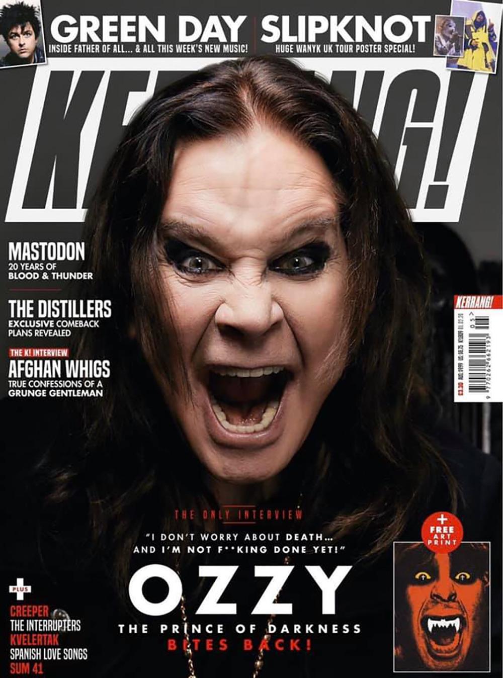 Ozzy Osbourne Kerrang! cover story 2019