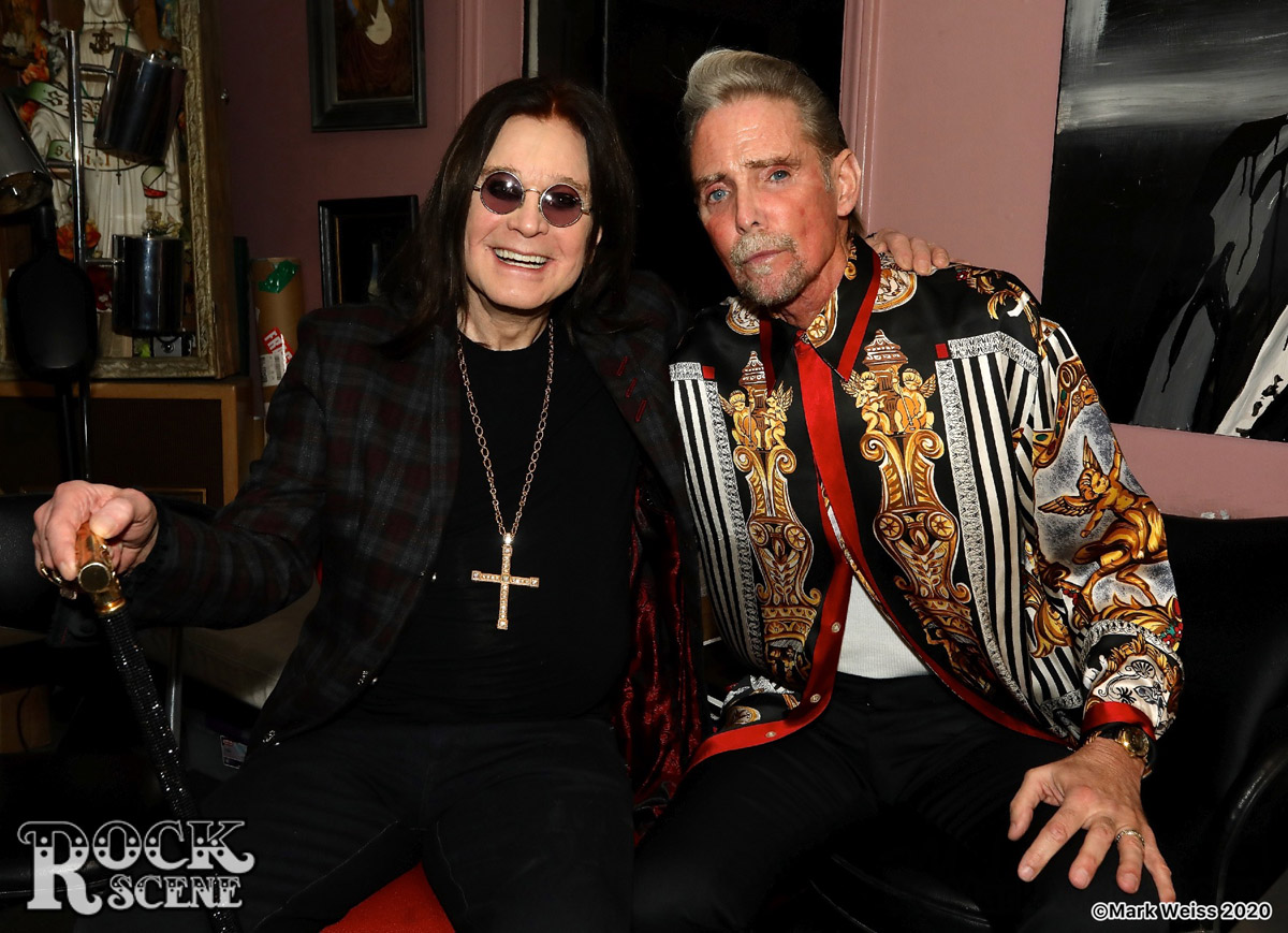Ozzy Osbourne at Shamrock Social Club tattoo party February 20, 2020