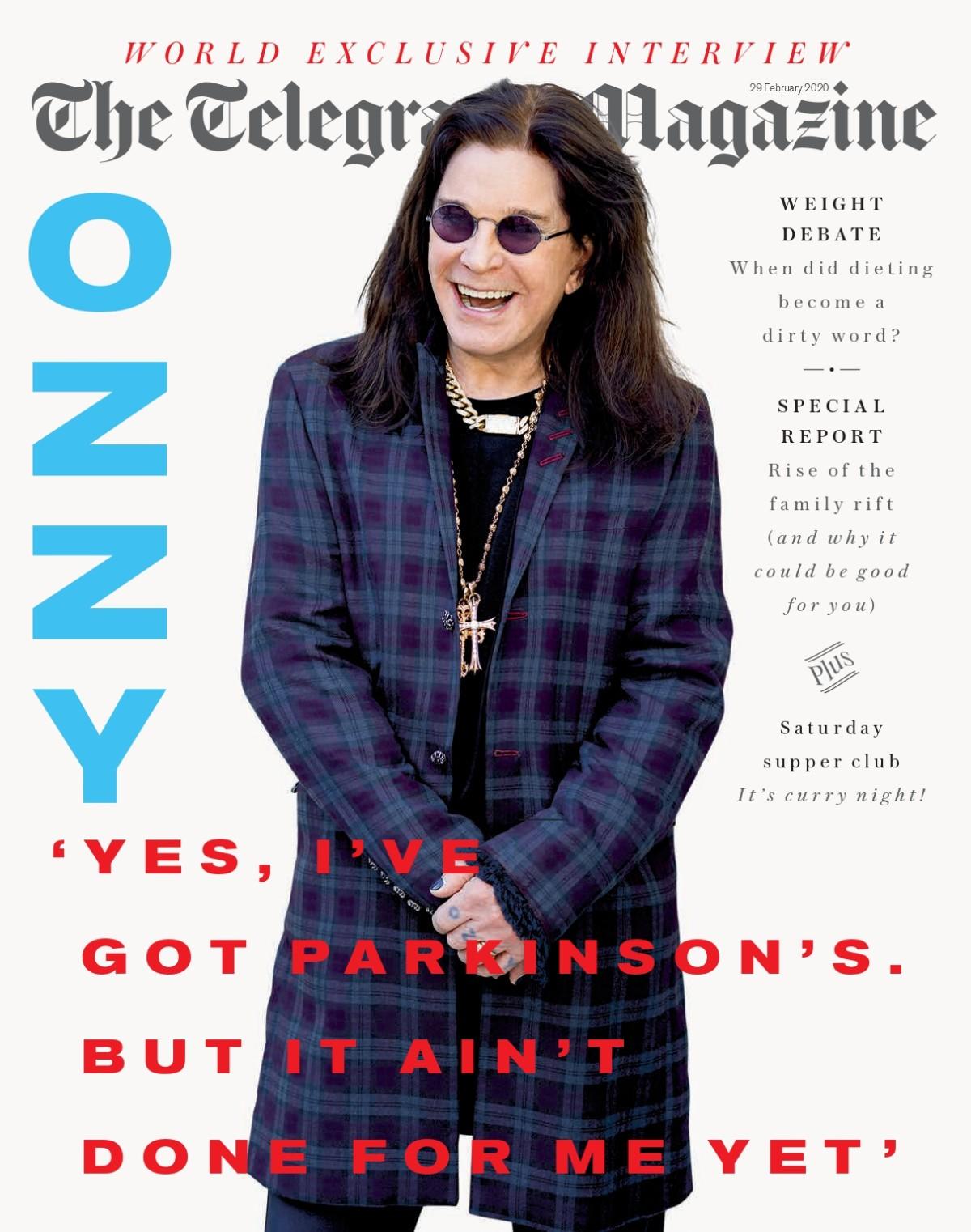 Ozzy Osbourne The Telegraph Magazine February 29, 2020