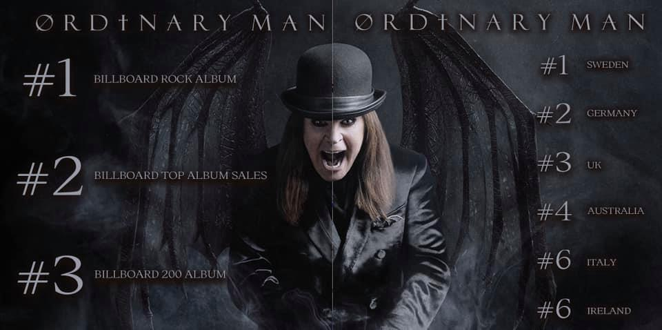 Ozzy Osbourne Ordinary Man chart debut 2020