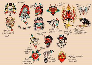Ozzy Osbourne-inspired tattoos