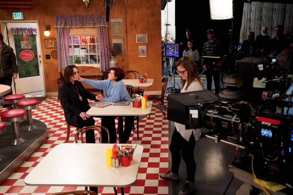 Ozzy Osbourne and Sharon Osbourne on The Conners airing March 17, 2020
