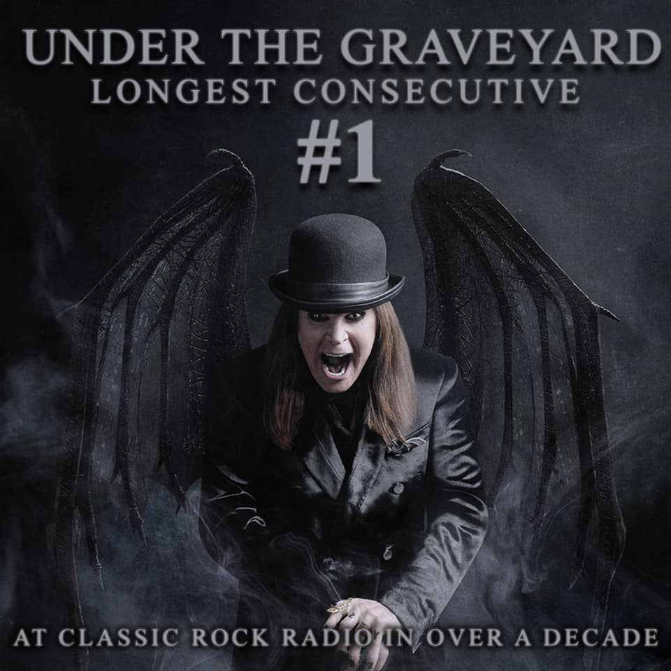 Ozzy Osbourne Under The Graveyard longest consecutive #1 at classic rock radio in over a decade