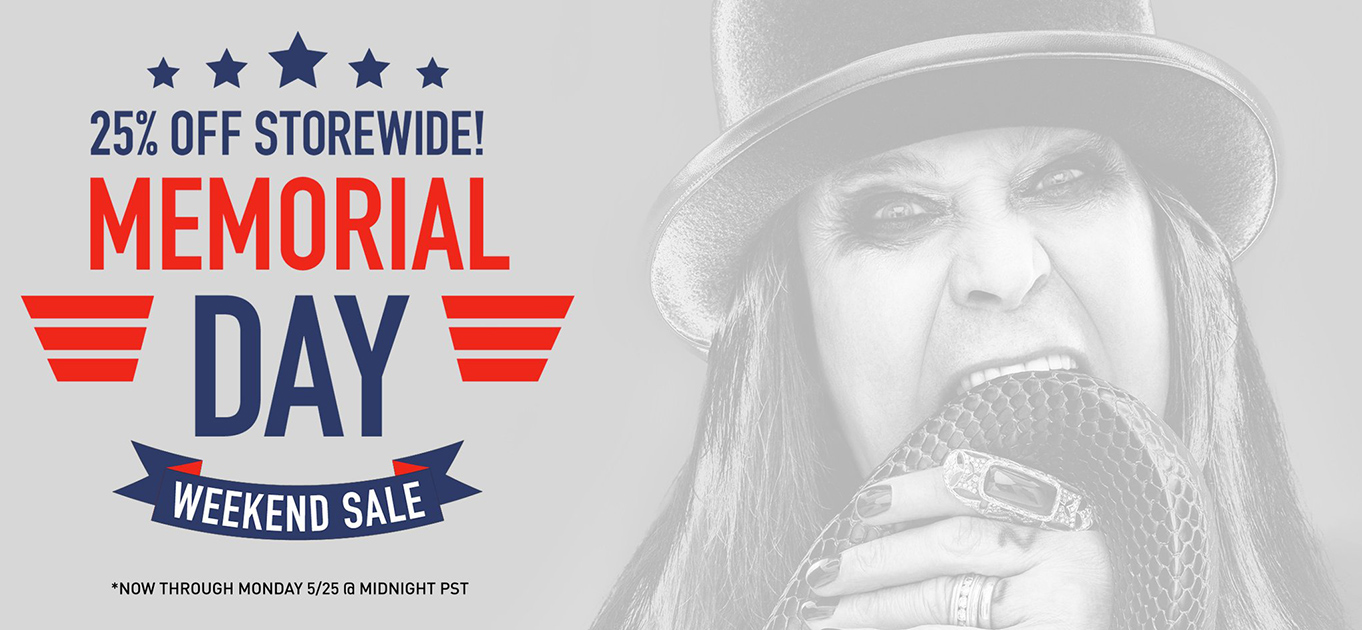 Ozzy Osbourne official store Memorial Day 2020 sale