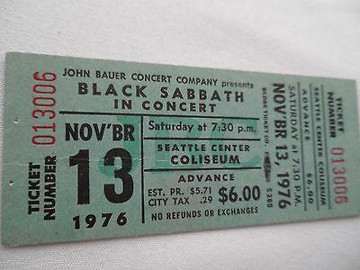 BLACK-SABBATH-1976-Original-UNUSED-CONCERT-TICKET-Seattle-WA