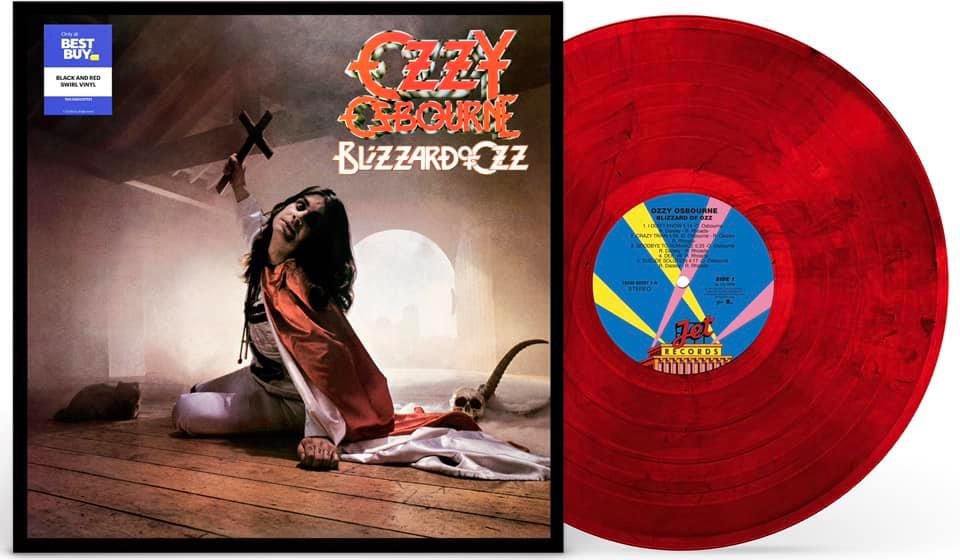 Ozzy Osbourne Blizzard of Ozz red and black swirl vinyl