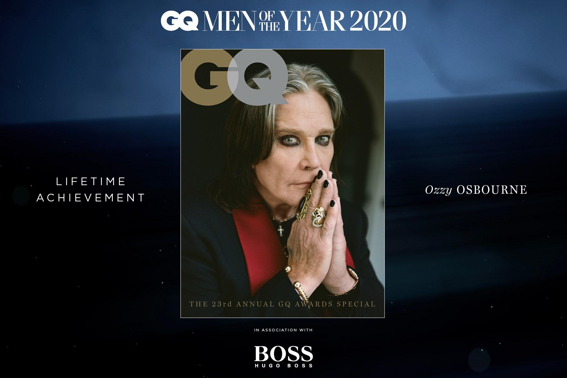 Ozzy Osbourne Lifetime Achievement GQ Men of the Year 2020