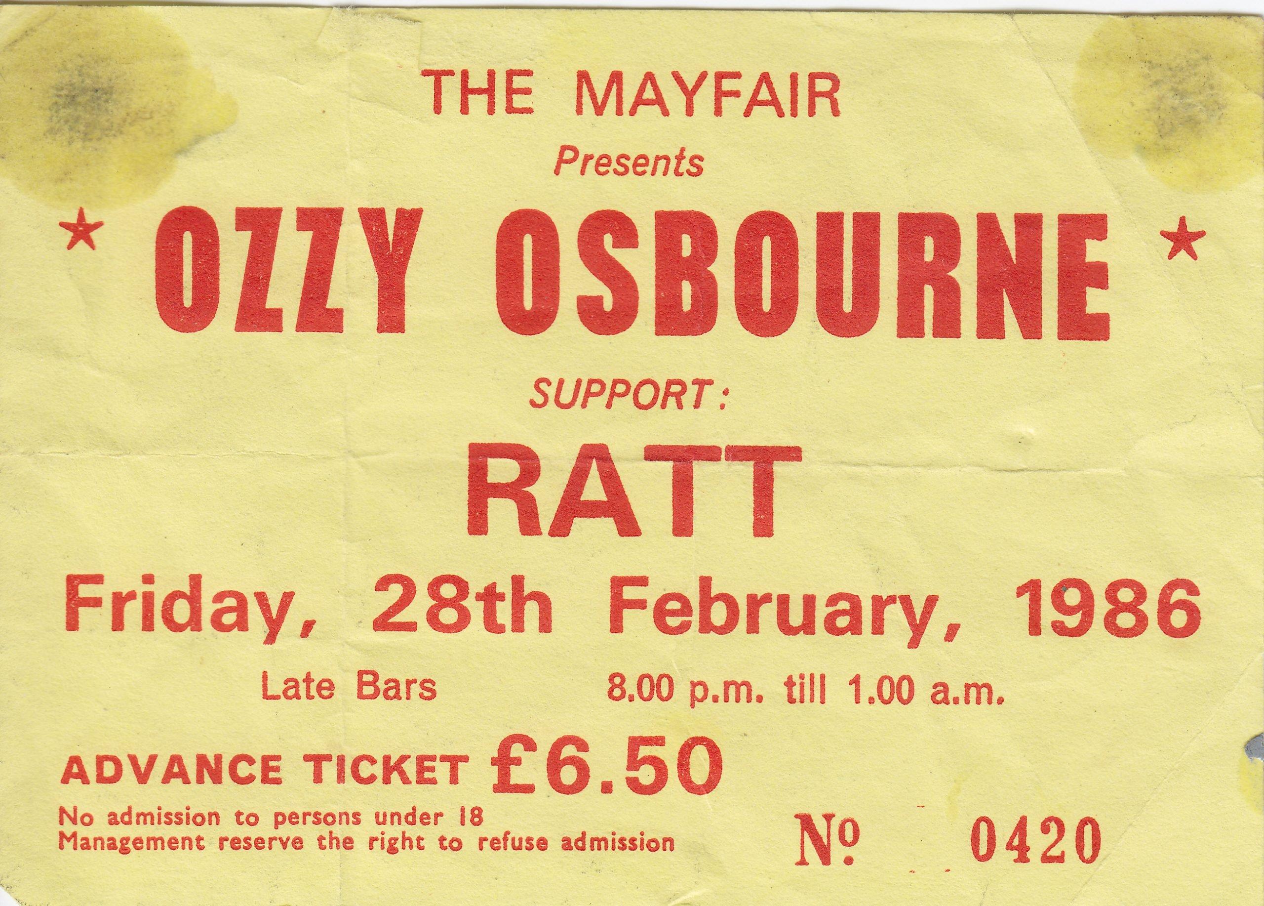 Ozzy Osbourne 28.02