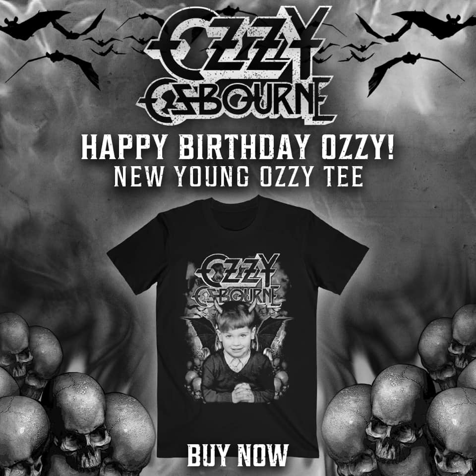 Young Ozzy Osbourne T-shirt