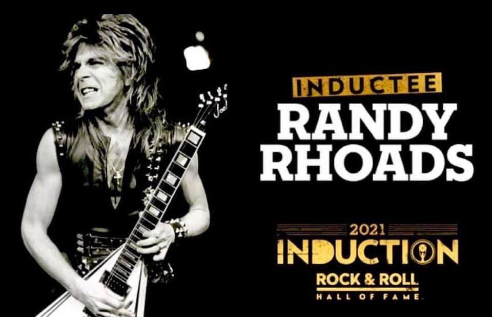 Randy Rhoads 2021 Rock & Roll Hall of Fame inductee