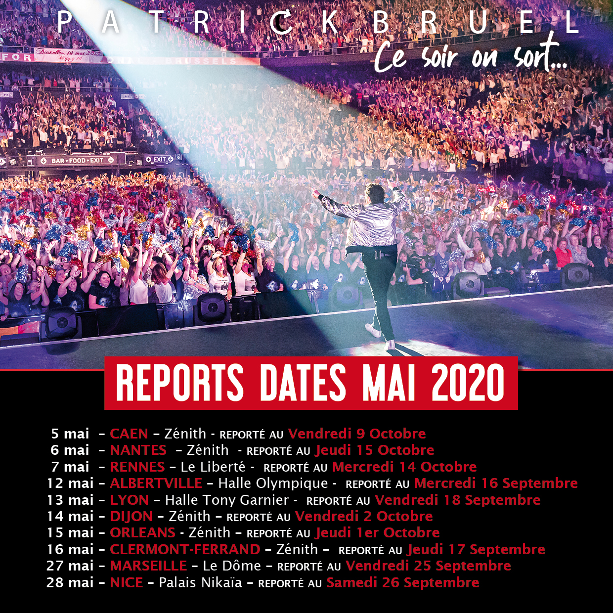 REPORT DATES DE TOURNÉE MAI 2020