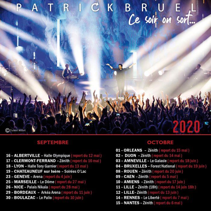 Les dates de la tournée de Patrick Bruel 2020
