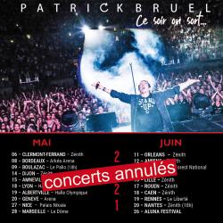 Annulation concerts en salle printemps 2021