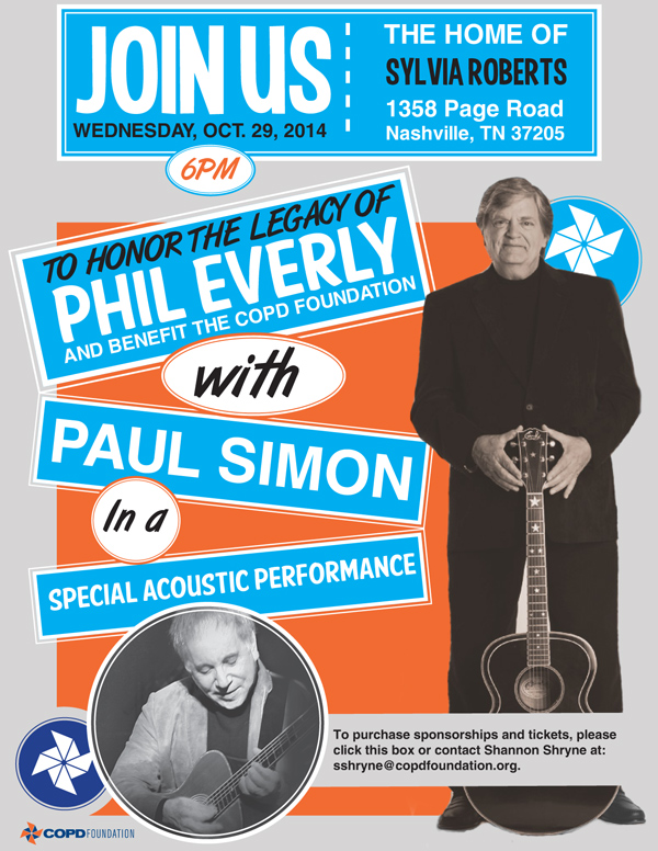 Phil Everly Tribute flyer