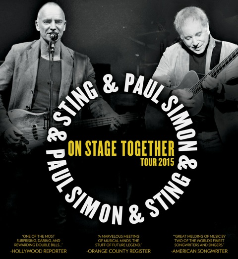 Paul Simon & Sting On Stage Together Tour 2015