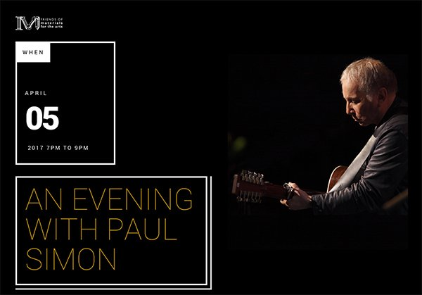 An Evening With Paul Simon April 5, 2017